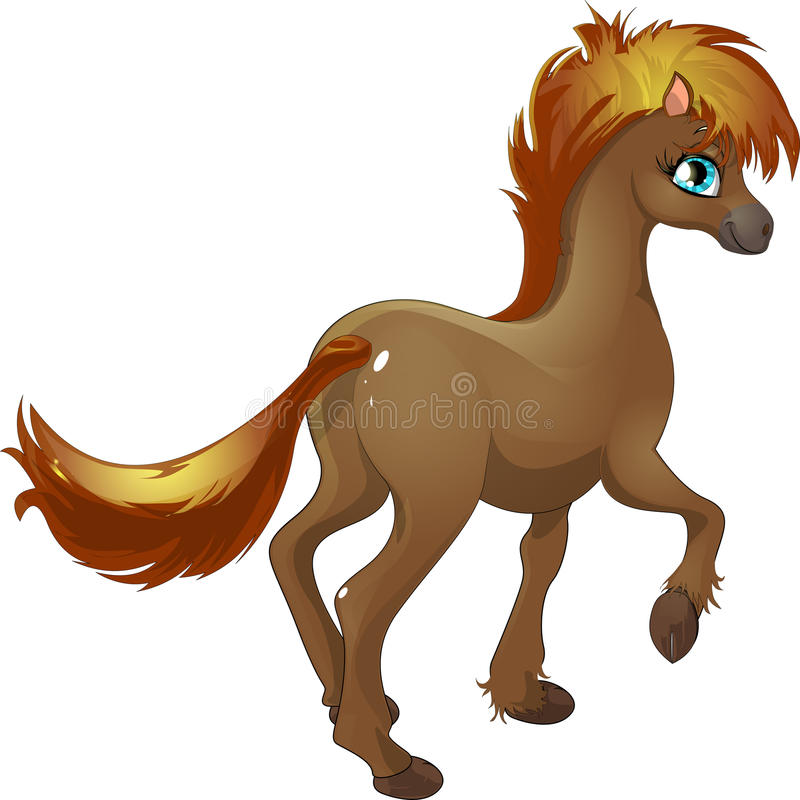 Poney illustration stock