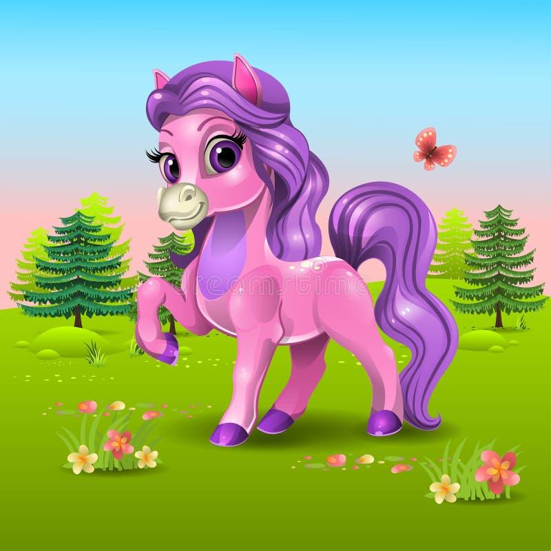 poney rose
