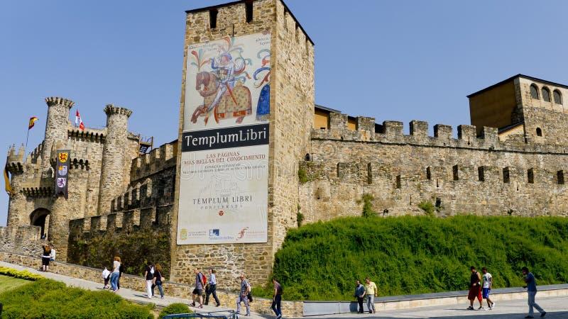 Ponferrada slott, Leon landskap, Spanien, royaltyfri fotografi