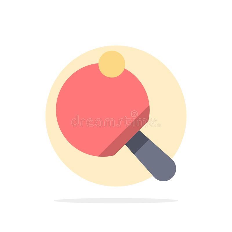 Pong,球拍,表,网球抽象圈子背景平的颜色象 向量例证