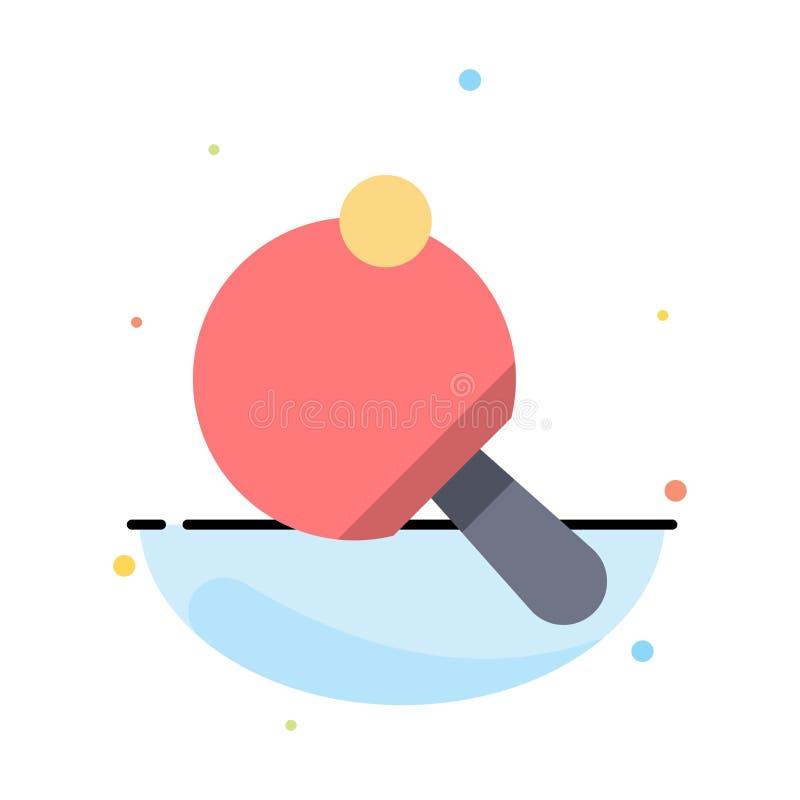 Pong,球拍,表,网球摘要平的颜色象模板 皇族释放例证