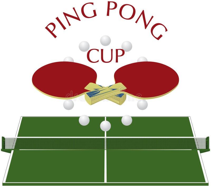 Pong do sibilo - logotipo ilustração royalty free