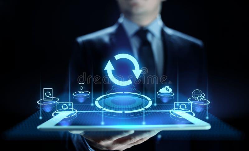 Ponga al día la aplicación de software y el concepto de la tecnología de la mejora del hardware fotos de archivo libres de regalías