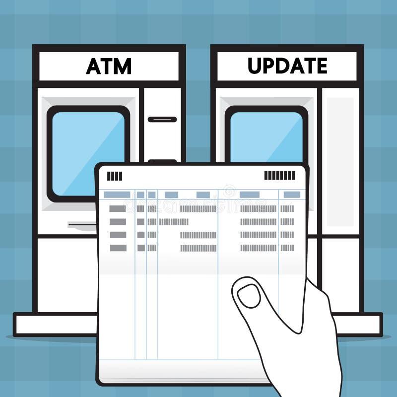 Ponga al día una libreta de banco ilustración del vector