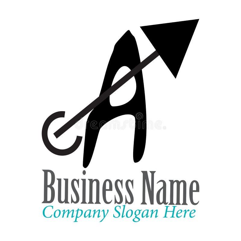 Ponga letras a Logo Template stock de ilustración