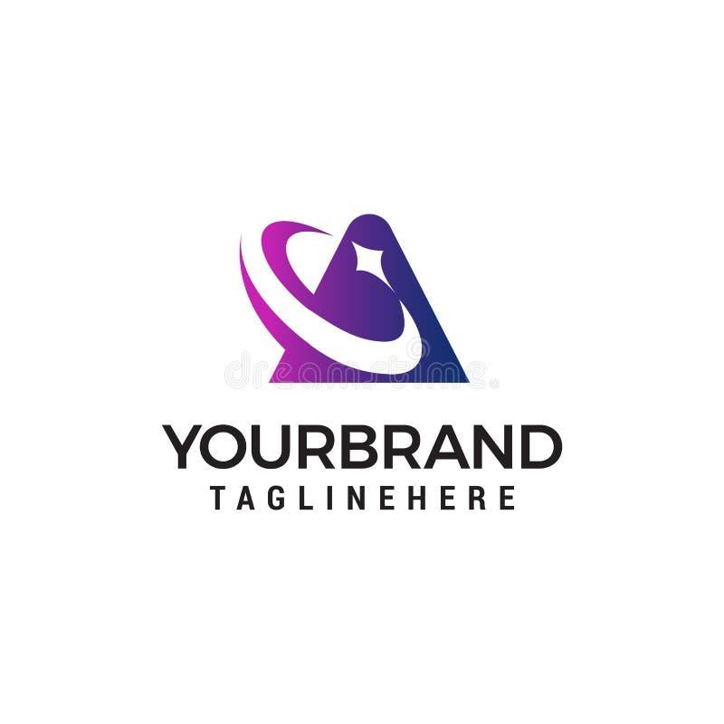 Ponga letras a los elementos de la estrella del logotipo del icono de una plantilla del diseño stock de ilustración