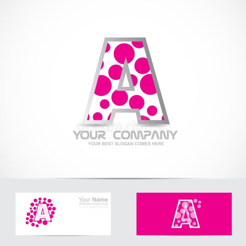 Ponga letras a un logotipo rosado de la burbuja stock de ilustración