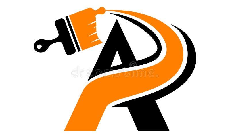 Ponga letras a una pintura del cepillo del hogar libre illustration