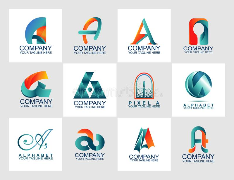 Ponga letras a una plantilla del diseño de sistema del logotipo con el logotipo abstracto, plantilla moderna del styleDesign con  ilustración del vector