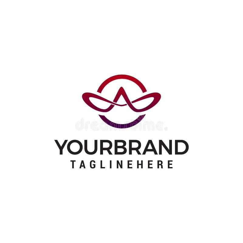 Ponga letras a una plantilla elegante del concepto de diseño del logotipo ilustración del vector
