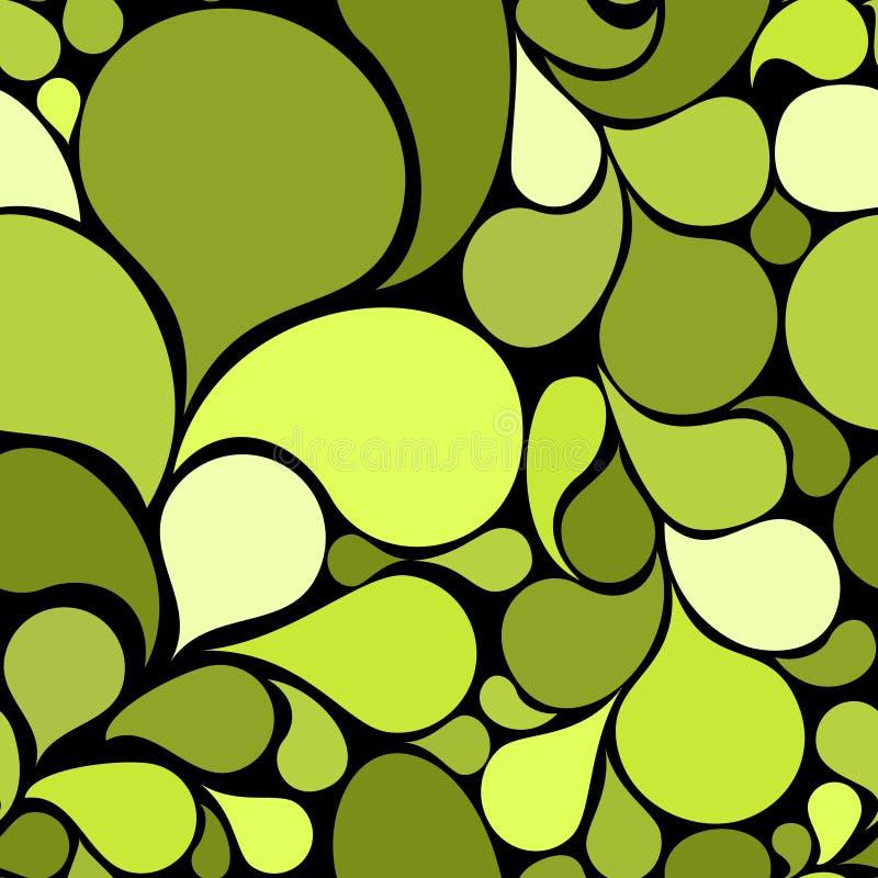Ponga verde el modelo inconsútil abstracto ilustración del vector