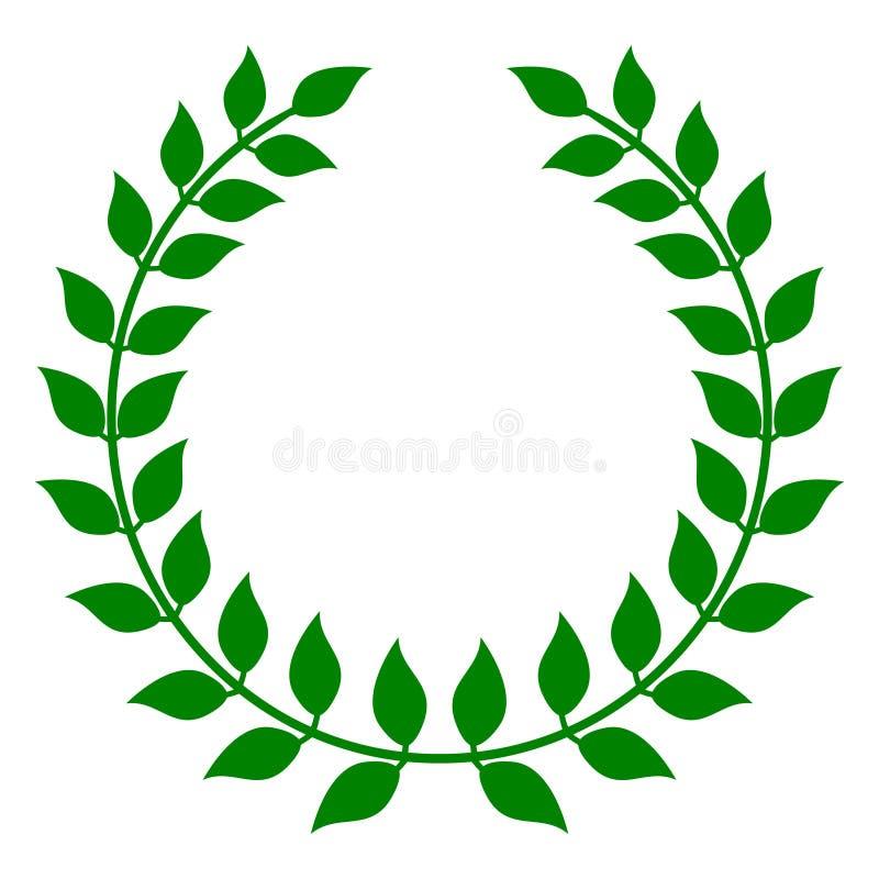 Ponga verde la guirnalda del laurel
