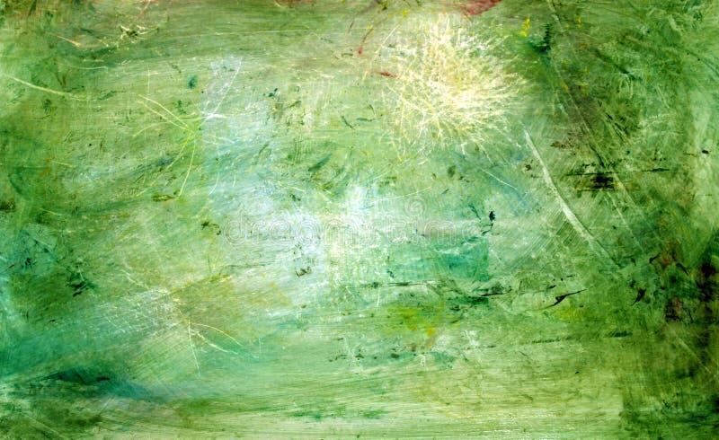 Ponga verde la pintura del grunge foto de archivo libre de regalías