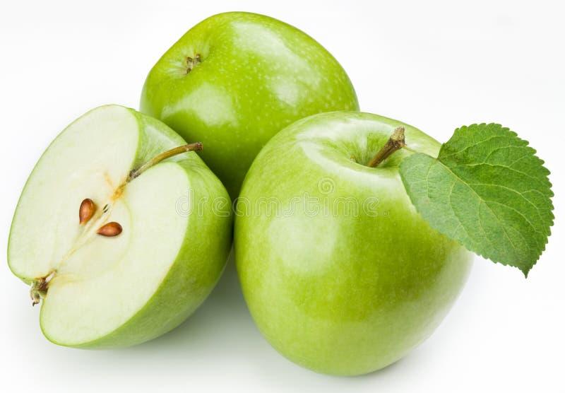 Ponga verde las manzanas fotografía de archivo