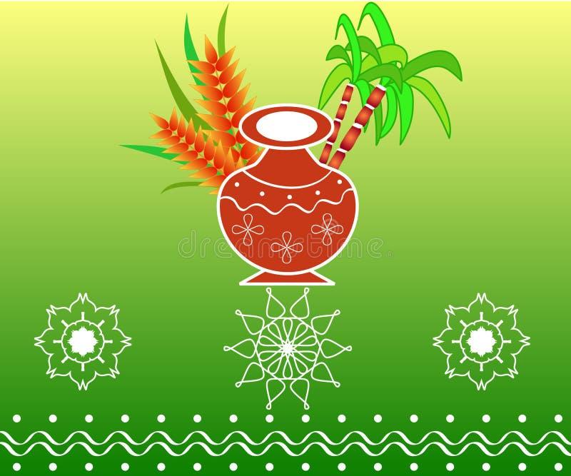 Pongal - indisches Festival vektor abbildung