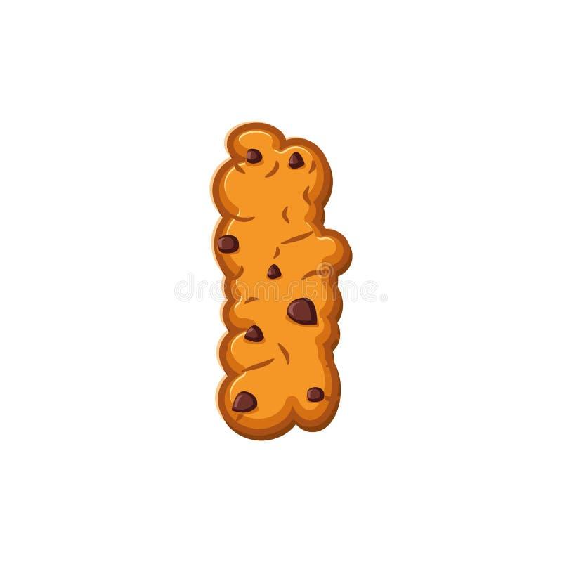 Pongo letras a las galletas Fuente de la galleta Símbolo del alfabeto de la galleta de la harina de avena libre illustration