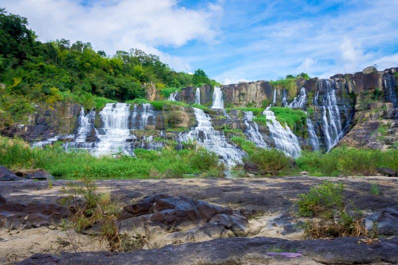 Pongour瀑布, Lam Dong,越南 库存照片