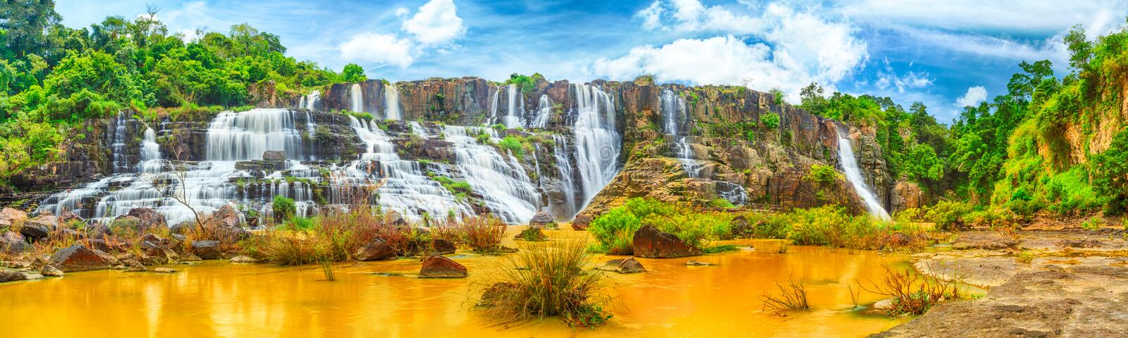 Download Pongour waterfall stock image. Image of river, outdoors - 25815165