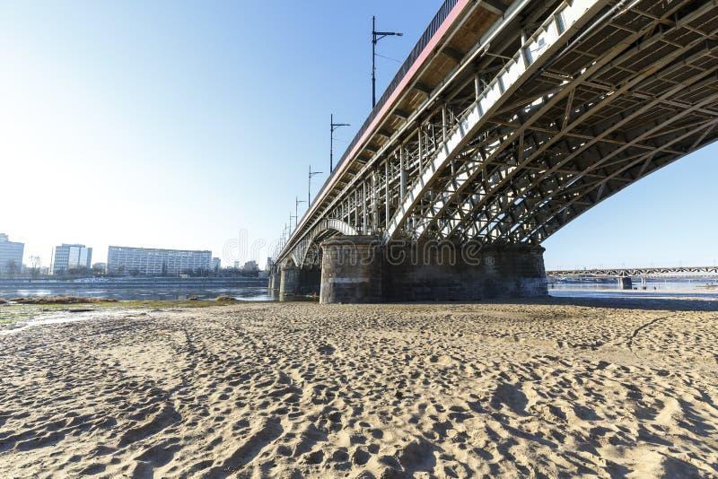 Poniatowski桥梁在华沙 免版税库存图片