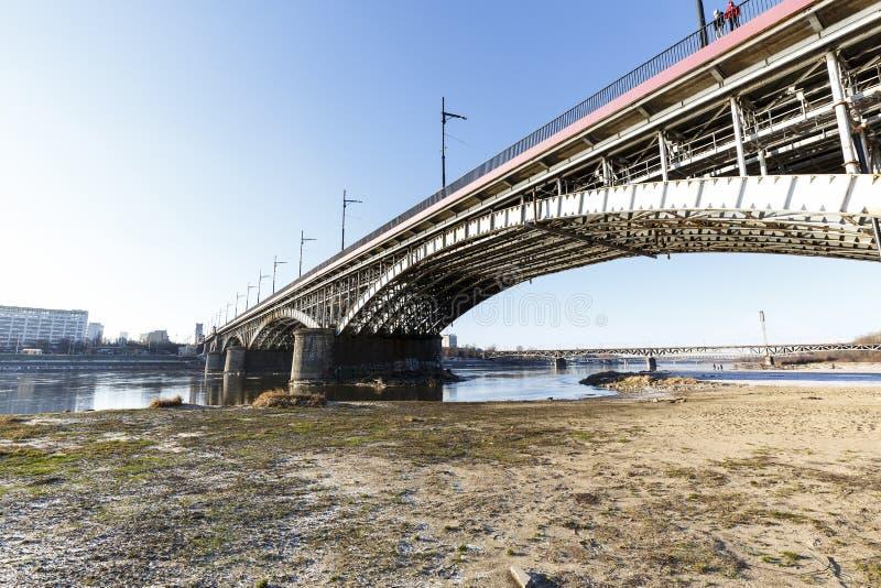 Poniatowski桥梁,华沙,波兰 图库摄影