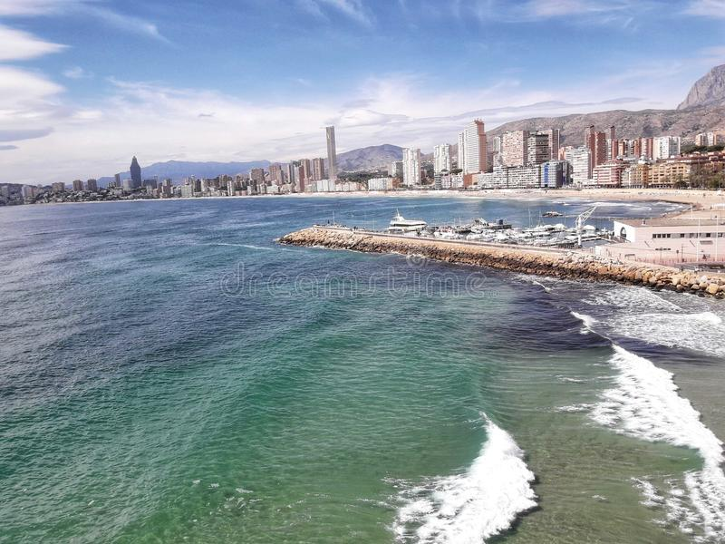 Poniente beach royalty free stock photography