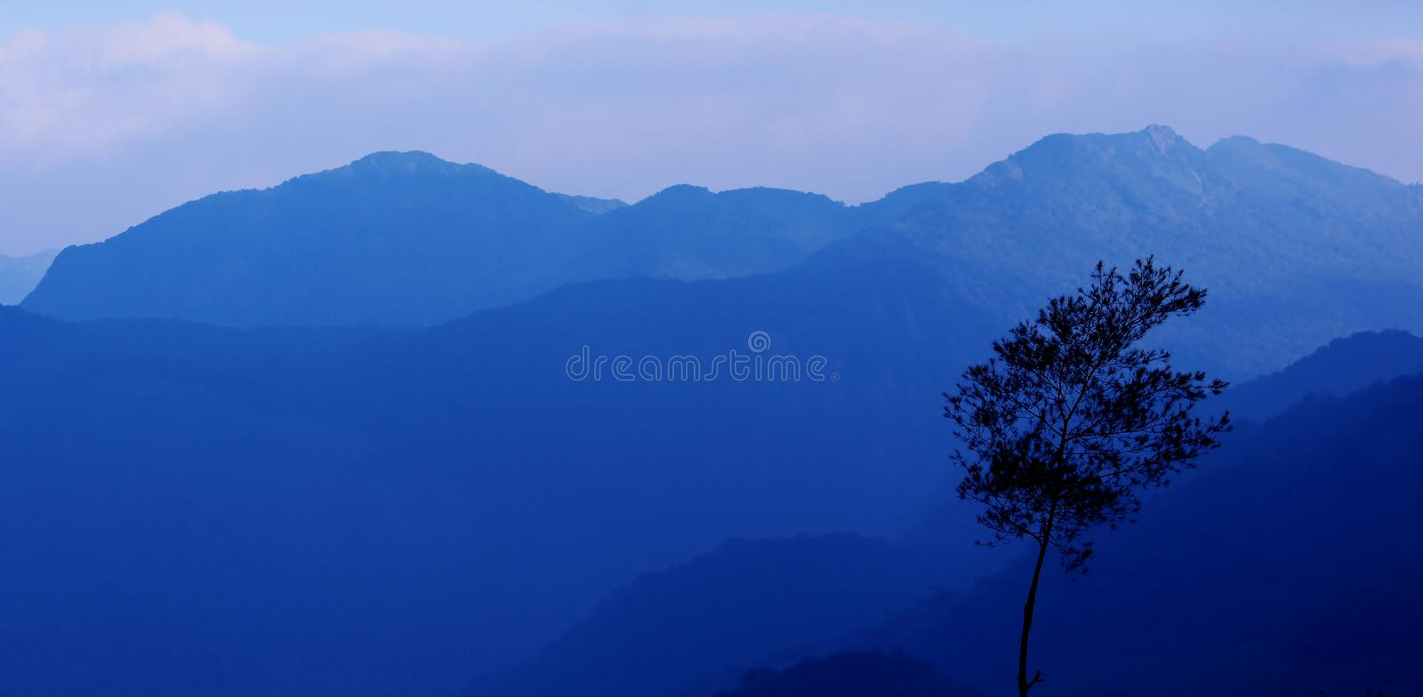 Ponmudi. Is a hill station Kerala in India stock images