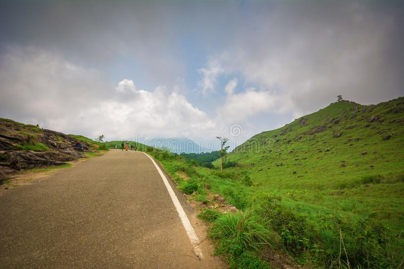 Ponmudi Hill station and road stock photo
