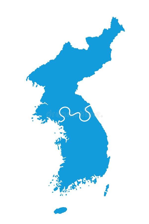Ponowne zjednoczenie Północny Korea Korea i Sounth ilustracja wektor