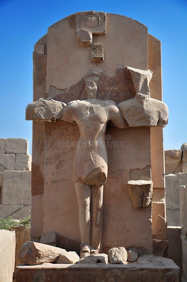 ponowny w antycznym miasteczku Thebes, świątynia Luxor, Egipt zdjęcie stock