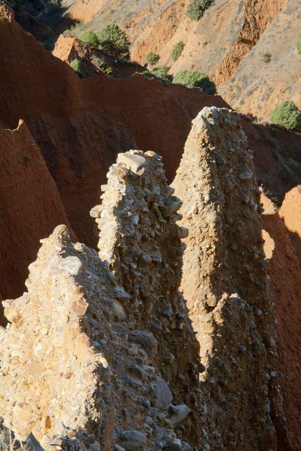 Pontà ³ n de la的奥利瓦山脉,西班牙荒地 免版税库存图片