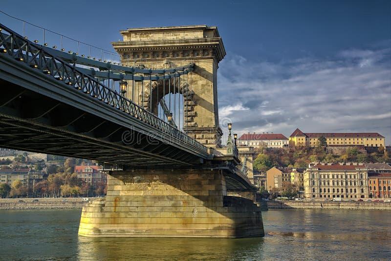 Pont à chaînes de Széchenyi images stock