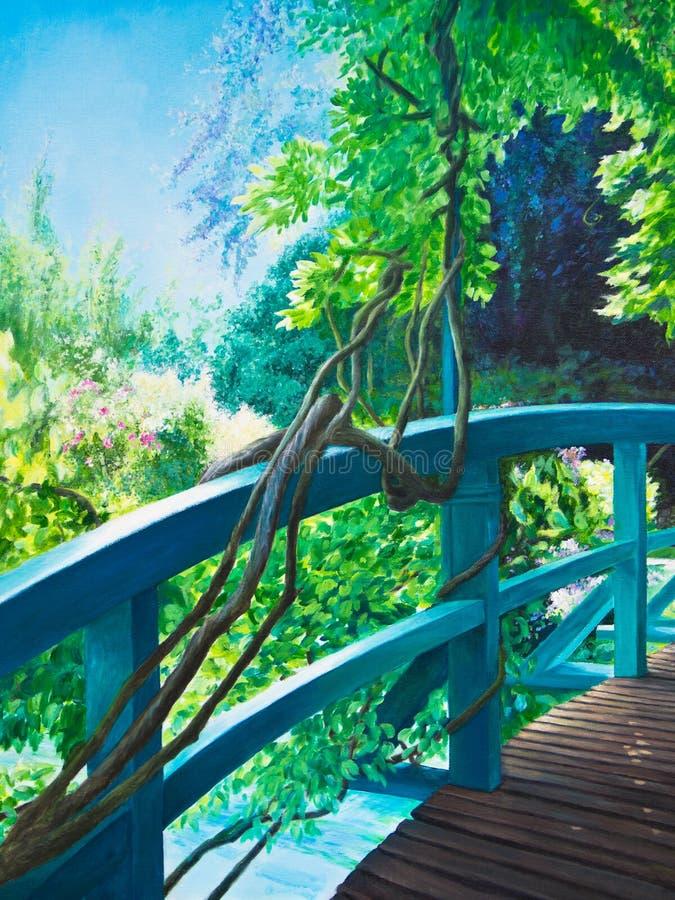 Pont à l'eau Lily Pond de Giverny photos libres de droits