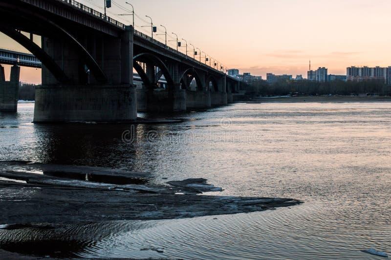 Pont à Novosibirsk images stock