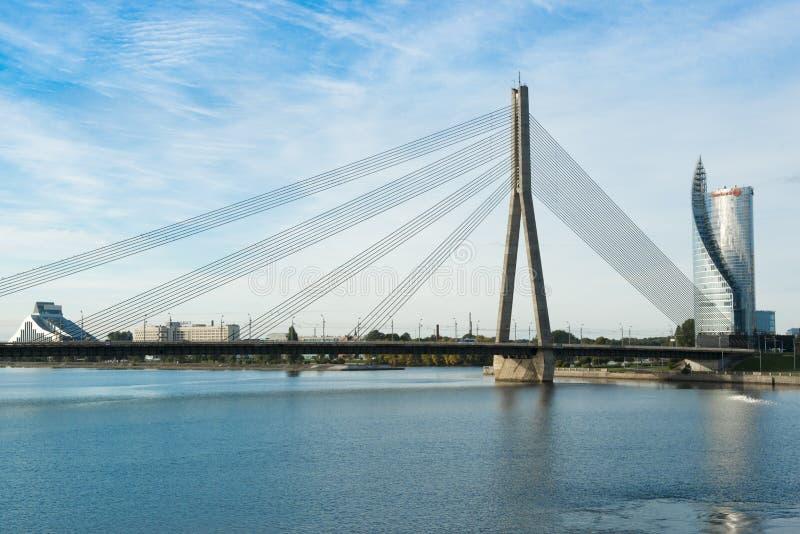 Pont à Riga image libre de droits