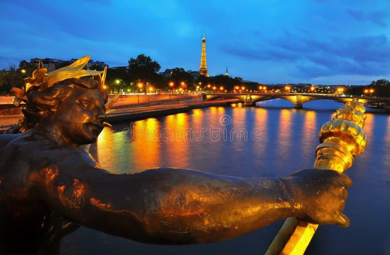 Pont Александр III, Париж стоковое изображение