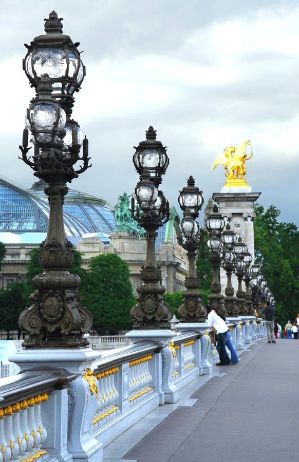 Pont Alexander III immagine stock libera da diritti