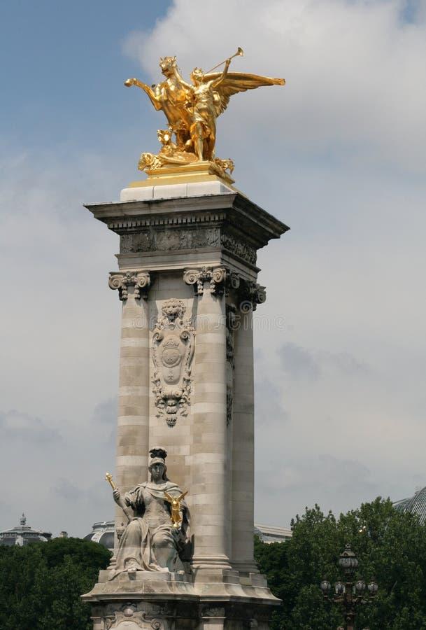 Download Pont Alexander III, Paris imagem de stock. Imagem de lamppost - 10062709
