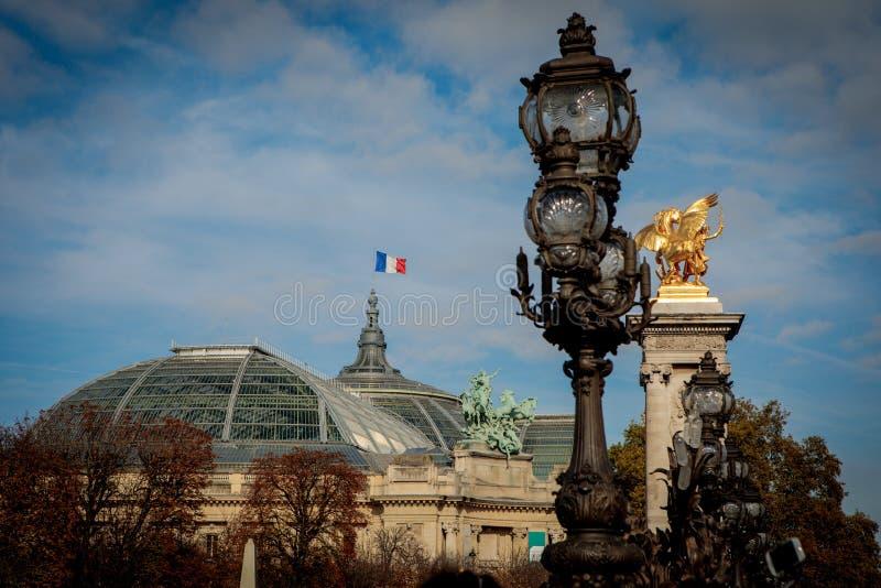 Pont Alexandre ΙΙΙ στο Παρίσι στοκ εικόνες με δικαίωμα ελεύθερης χρήσης