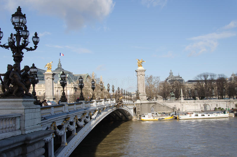 Pont Alexandre de pont III photo libre de droits