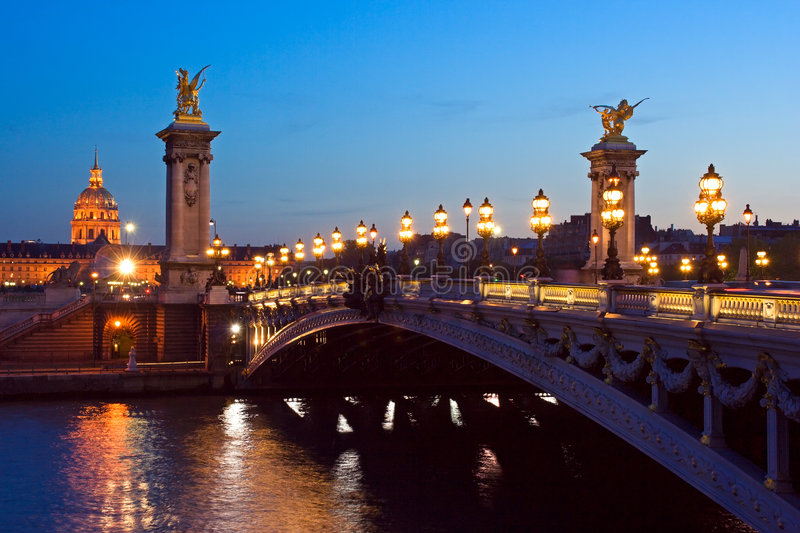 Pont Alexandre III images stock
