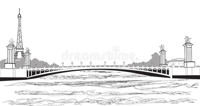 Pont Alexandre III illustration libre de droits