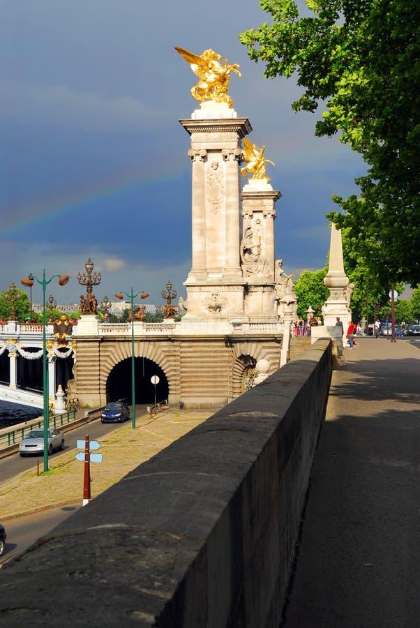 Pont Alexandre III images libres de droits