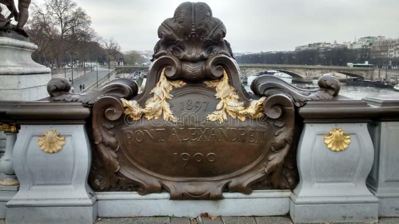 Pont Alexandre III photo stock