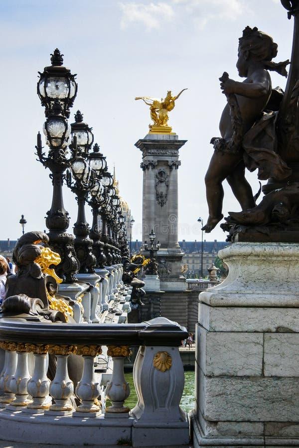 Pont Alexandre III - Bridge in Paris, France. stock photos
