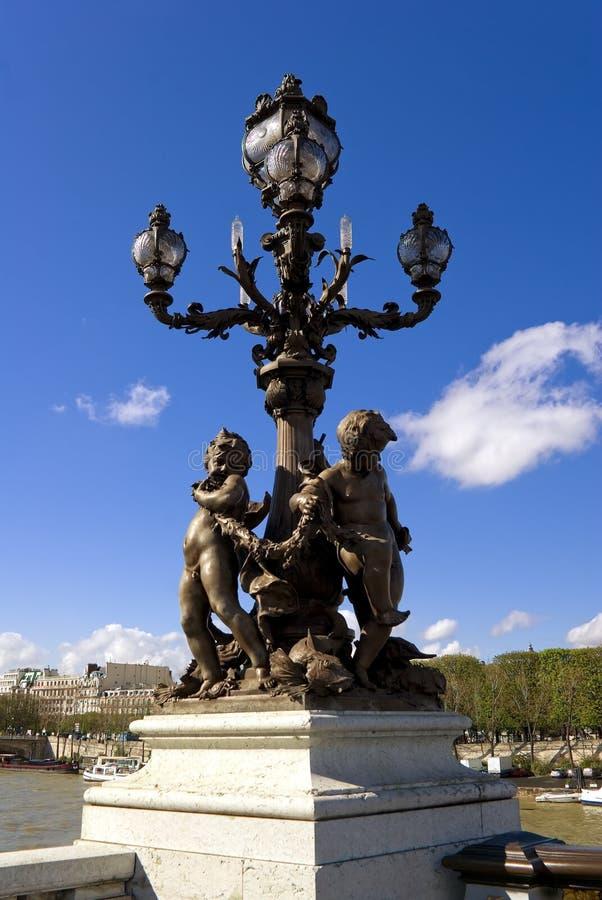 Pont Alexandre III, Parigi, Francia fotografia stock libera da diritti