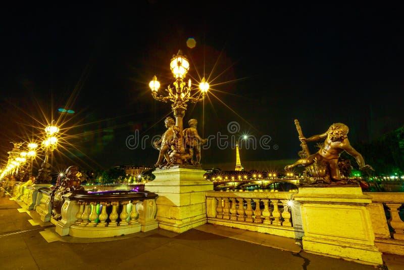 pont alexandre III paris стоковая фотография rf