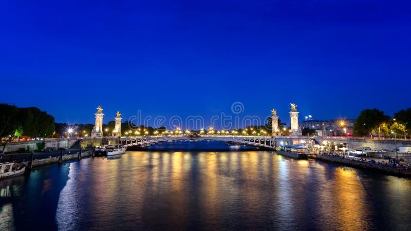 Pont Alexandre III, Paris stockfoto