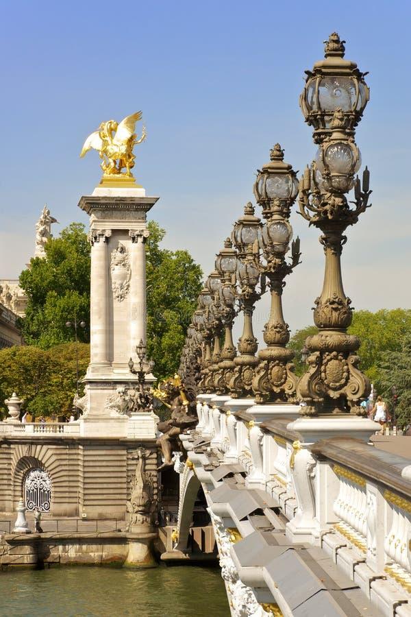 Pont Alexandre III, Paris - France photographie stock libre de droits