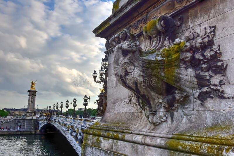 Pont Alexandre III - Paris, Frankreich lizenzfreies stockfoto