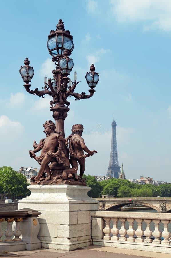 Pont Alexandre, Paryż Francja - obraz stock